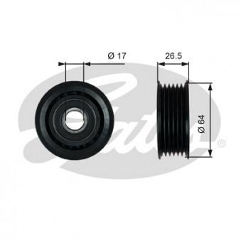 Poulie renvoi/transmission, courroie trapézoïdale à nervures GATES T38099 pour AUDI A6 2,5 TDI - 180cv