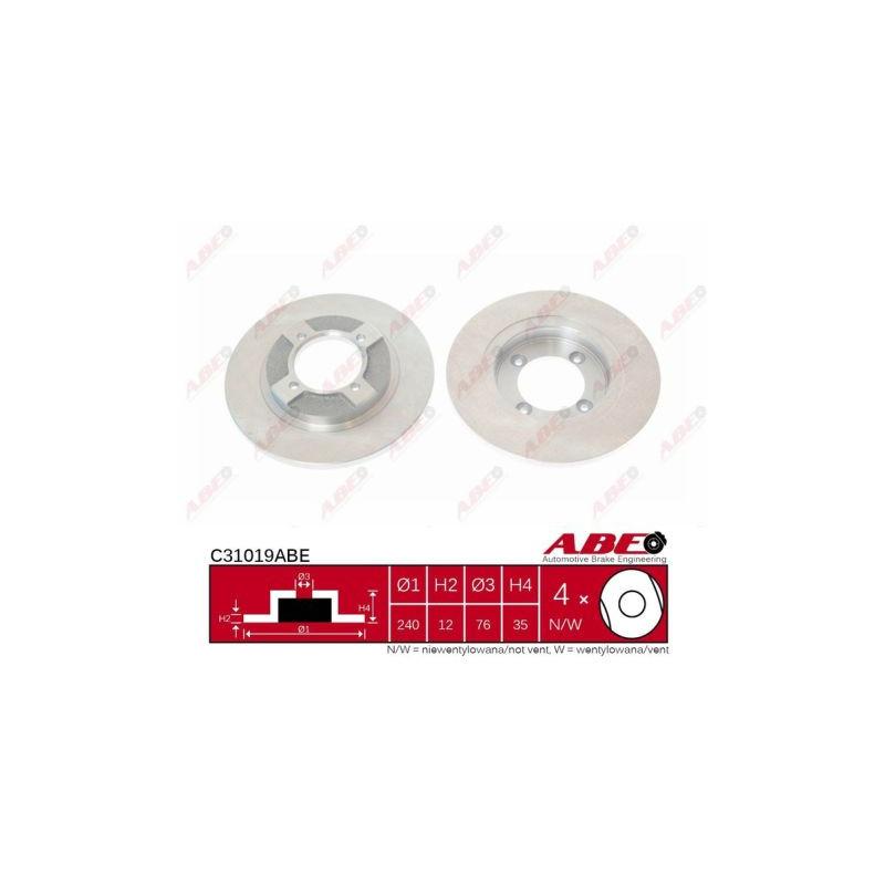 Jeu de 2 disques de frein avant ABE [C31019ABE]