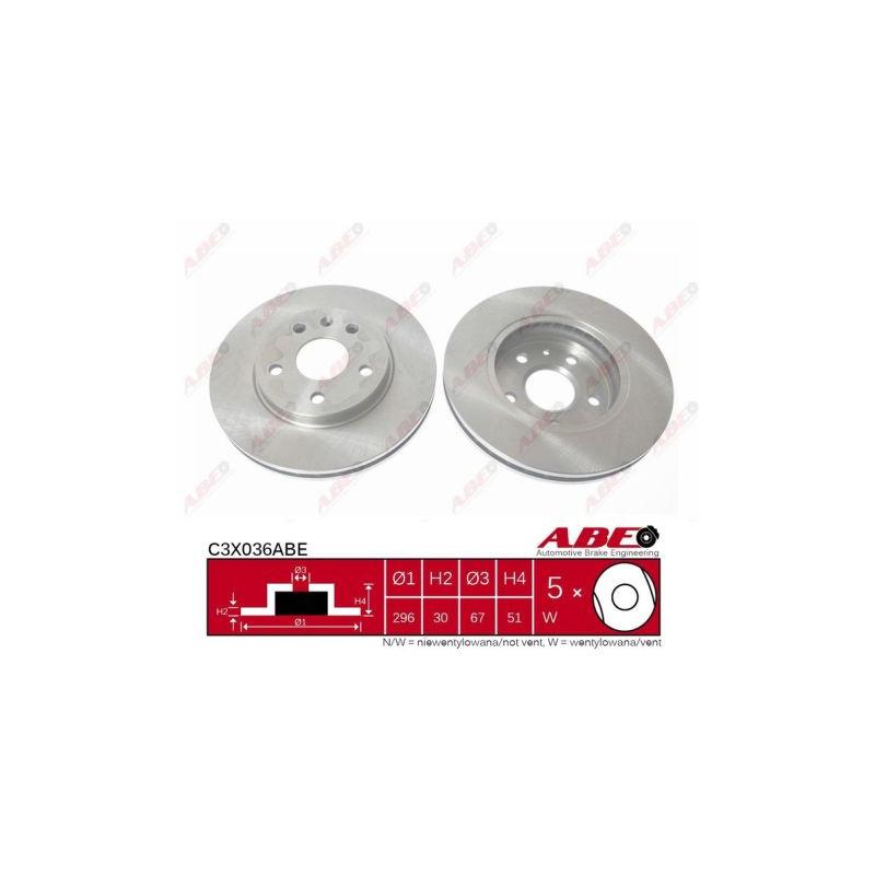 Jeu de 2 disques de frein avant ABE [C3X036ABE]