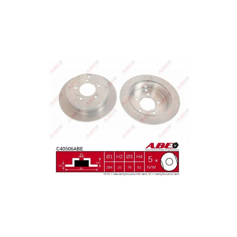 Jeu de 2 disques de frein arrière ABE [C40506ABE]