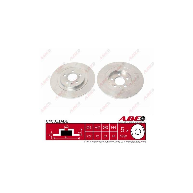 Jeu de 2 disques de frein arrière ABE [C4C011ABE]