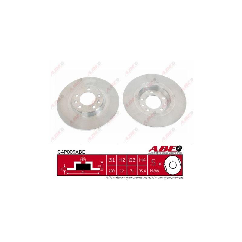 Jeu de 2 disques de frein arrière ABE [C4P009ABE]